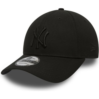 Casquette courbée noire ajustable avec logo noir 9FORTY League Essential New York Yankees MLB New Era