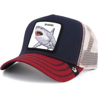 Casquette trucker bleue marine requin Big Shark Goorin Bros.