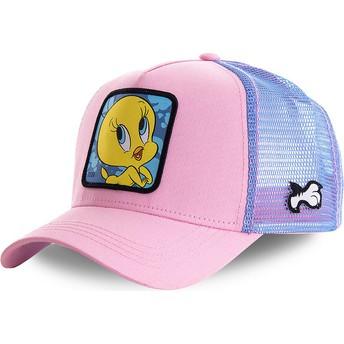 Capslab Tweety TWE1 Looney Tunes Pink and Blue Trucker Hat
