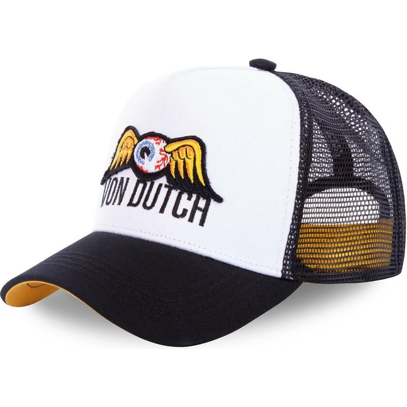Von Dutch Baseball Kappe Tarnfarbe Gebogener Schirm Trucker Orange Netz Snapback