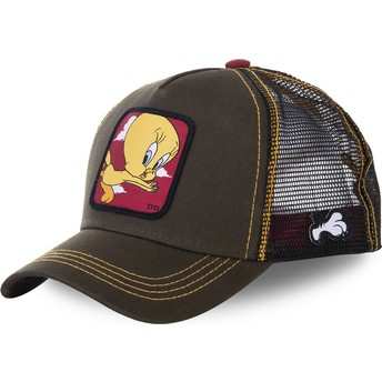Capslab Tweety TIT2 Looney Tunes Trucker Cap grün