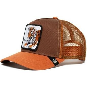 Casquette trucker marron pour enfant tigre Wild Tiger Goorin Bros.