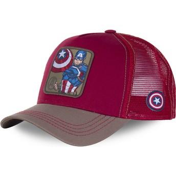 Casquette trucker rouge Captain America CPT3 Marvel Comics Capslab