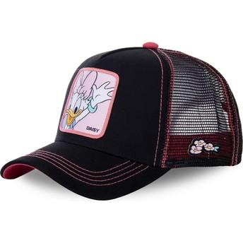 Capslab Daisy Duck DAI2 Disney Black and Pink Trucker Hat