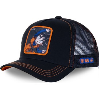 Capslab Goten Fusion GTN2 Dragon Ball Black Trucker Hat