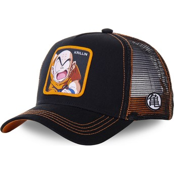 Capslab Krillin KRI3 Dragon Ball Black Trucker Hat