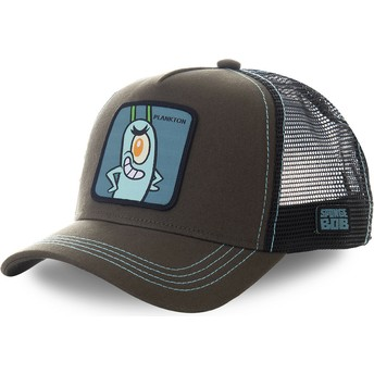 Capslab Plankton PLK SpongeBob SquarePants Grey Trucker Hat