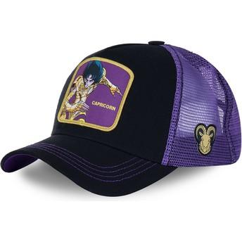 Casquette trucker noire et violette Capricorne CAP Saint Seiya: Les Chevaliers du Zodiaque Capslab