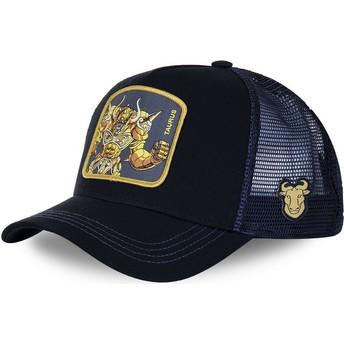 Casquette trucker noire et bleue Taureau TAU Saint Seiya: Les Chevaliers du Zodiaque Capslab