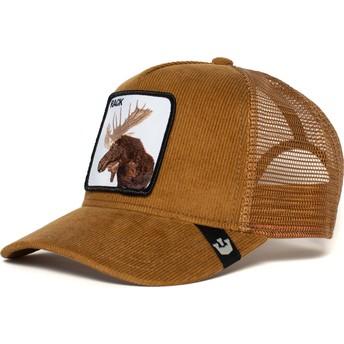 Goorin Bros. Elk Moose Head Brown Trucker Hat