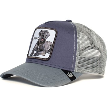 Casquette trucker grise chien grand danois Big D Goorin Bros.