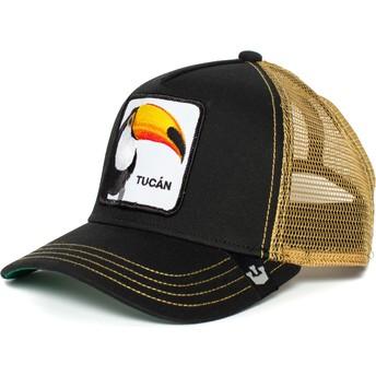 Casquette trucker noire et dorée toucan Tucan Goorin Bros.
