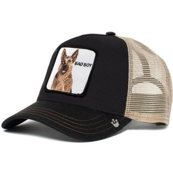 Goorin Bros. German Shepherd Dog Bouncer Black and Brown Trucker Hat