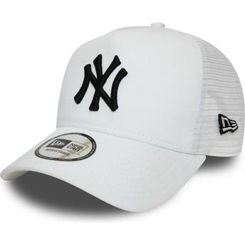 Casquette trucker blanche avec logo noir Essential A Frame New York Yankees MLB New Era