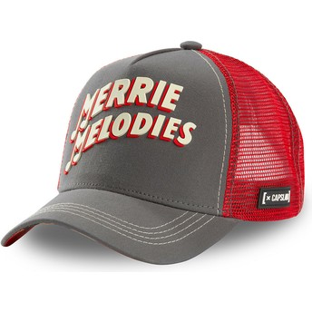Capslab Merrie Melodies ALL2 Looney Tunes Grey and Red Trucker Hat