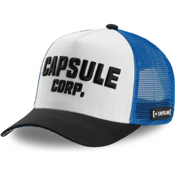 Casquette trucker blanche, bleue et noire Capsule Corporation COR Dragon Ball Capslab