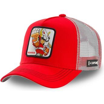 Capslab Pegasus Seiya PEG1 Saint Seiya: Knights of the Zodiac Red and White Trucker Hat