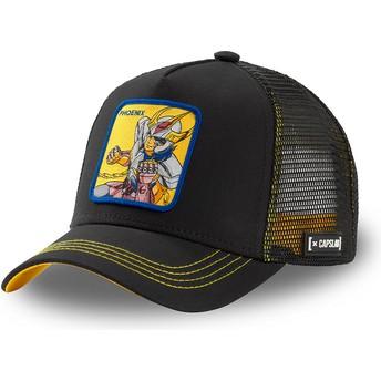 Capslab Phoenix Ikki PHO3 Saint Seiya: Knights of the Zodiac Black Trucker Hat