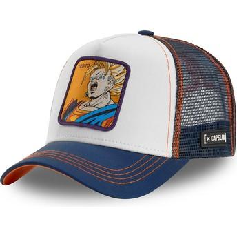 Casquette trucker blanche, bleue et orange Vegetto Super Saiyan VEG2 Dragon Ball Capslab