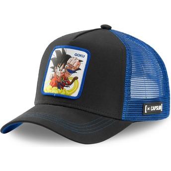Casquette trucker noire et bleue Son Goku Enfant GOK4 Dragon Ball Capslab