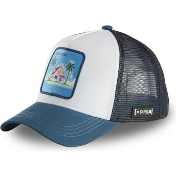 Casquette trucker blanche et bleue Kame House HOU2 Dragon Ball Capslab