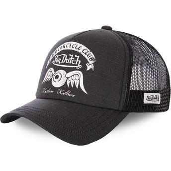 Von Dutch CREW8 Black Trucker Hat