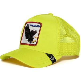 Casquette trucker jaune aigle Freedom Goorin Bros.