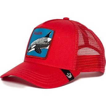 Goorin Bros. Killer Whale Red Trucker Hat