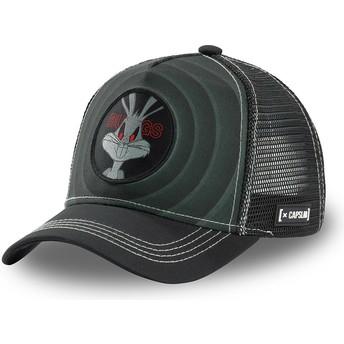 Capslab Bugs Bunny Bullseye Color Rings LOO BUG2 Looney Tunes Black Trucker Hat