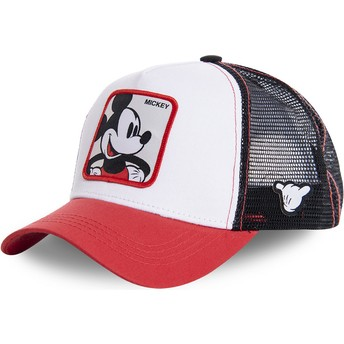 Capslab Youth Mickey Mouse KID_MIC4 Disney White, Black and Red Trucker Hat