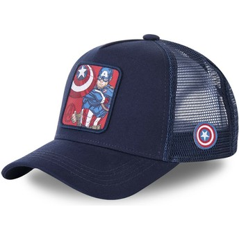 Capslab Youth Captain America KID_CPT1 Marvel Comics Navy Blue Trucker Hat