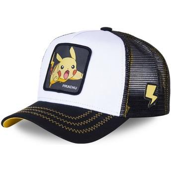Casquette trucker blanche et noire pour enfant Pikachu KID_PIK5 Pokémon Capslab