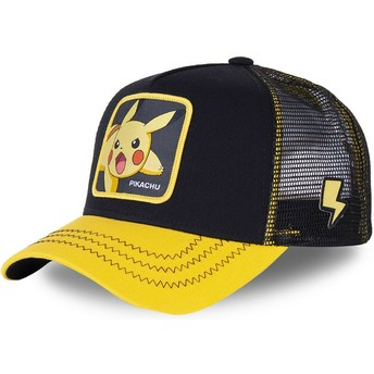 Capslab Youth Pikachu KID_PIK6 Pokémon Black and Yellow Trucker Hat