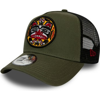 Casquette trucker verte Tattoo Pack A Frame New Era