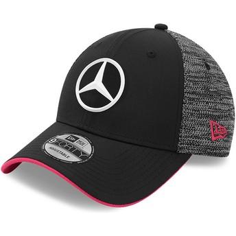 Casquette courbée noire ajustable 9FORTY Tonal eSports Mercedes Formula 1 New Era