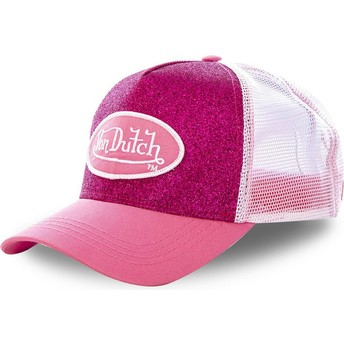 Casquette trucker rose PIN Von Dutch