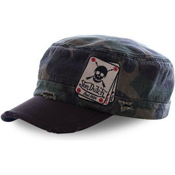 Von Dutch ARM3 Camouflage and Black Army Cap