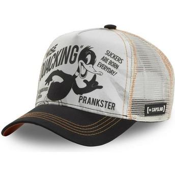 Casquette trucker blanche et noire Daffy Duck LOO DUC1 Looney Tunes Capslab