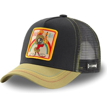Capslab Marvin the Martian LOO MAR1 Looney Tunes Black and Khaki Trucker Hat