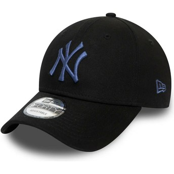 Casquette courbée noire ajustable avec logo bleu 9FORTY Colour Essential New York Yankees MLB New Era