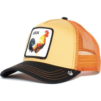 Casquette trucker orange et noire coq A Doodle Doo Goorin Bros.