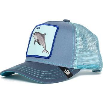 Casquette trucker bleue pour enfant dauphin Ocean Vibes Goorin Bros.