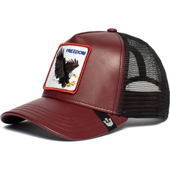Casquette trucker rouge et noire aigle Big Bird Goorin Bros.
