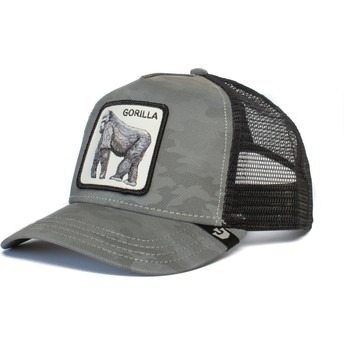 Casquette trucker camouflage grise gorille Silverback Goorin Bros.