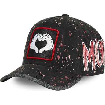 Casquette courbée noire ajustable Mickey Mouse Coeur Mains TAG MIC2 Disney Capslab