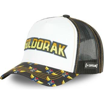 Capslab Goldorak MSK1 UFO Robot Grendizer White and Black Trucker Hat