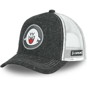 Capslab Ghost Boo POW2 Super Mario Bros. Black Trucker Hat