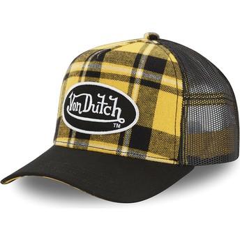 Von Dutch CAR A2 Yellow Checkered Trucker Hat