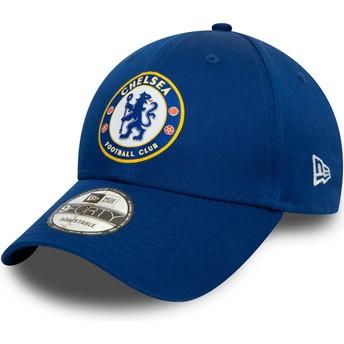 Casquette courbée bleue snapback 9FORTY Chelsea Football Club New Era