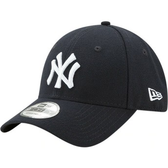 Cappellino visiera curva blu marino regolabile 9FORTY The League di New York Yankees MLB di New Era